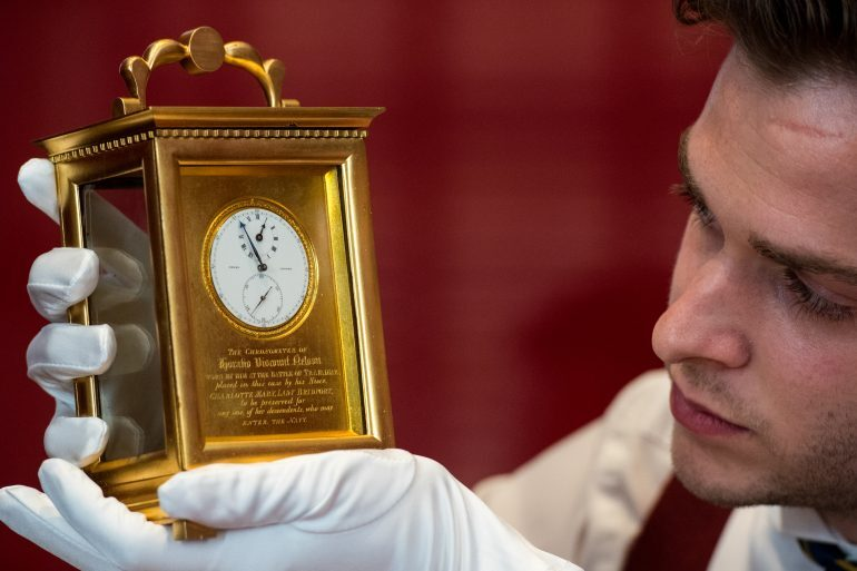 Auctions: Coming Up At Sotheby's, The Watch Carried By Lord Admiral Nelson At The Battle Of Trafalgar