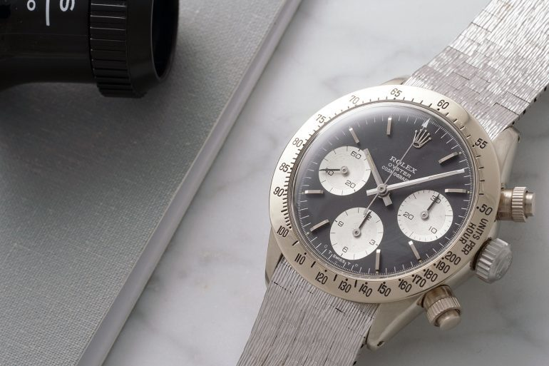 Breaking News: Unique White Gold Rolex Daytona Ref. 6265 To Be Auctioned By Phillips In May