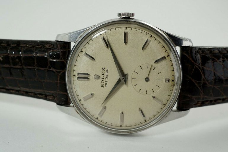 Bring a Loupe: A 1961 Rolex Precision Ref. 4658, An IWC Rectangular Watch, And A Technos Skindiver Ref. FHF 969