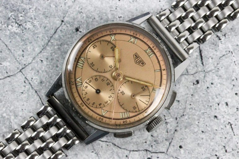 Bring a Loupe: A 1969 Zenith Ref. A273, A Heuer 'Pre-Carrera' Ref. 2443 With Salmon Dial, And A Classic Rolex Datejust