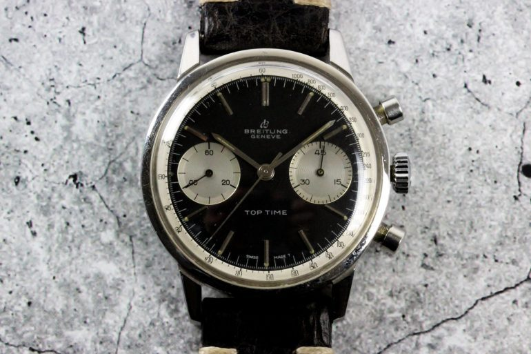 Bring a Loupe: A Patek Philippe Ref. 3939H Minute Repeater Tourbillon, A Breitling Top Time Ref. 2002, And A Rolex Ref. 6518 Rite Time