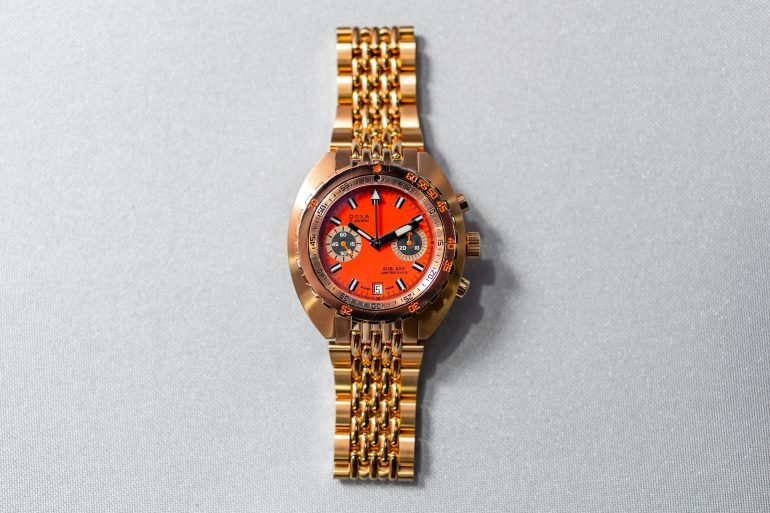 First Photos: The Solid Gold Doxa Sub 200 T. Graph Limited Edition