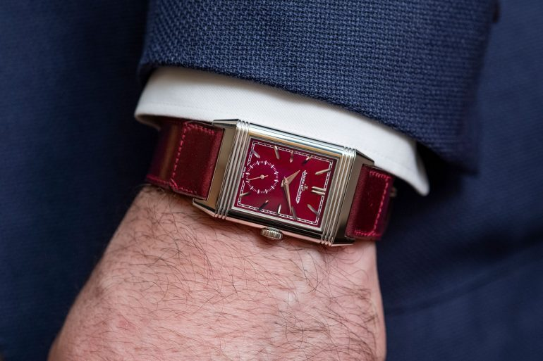 Hands-On: The Jaeger-LeCoultre Reverso Tribute Small Seconds With Burgundy Dial