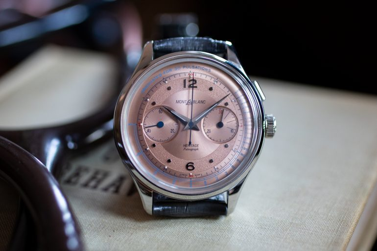 Hands-On: The Montblanc Heritage Spirit Pulsograph With Salmon Dial