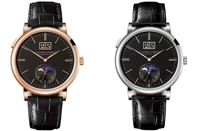 Introducing: The A. Lange & Söhne Saxonia Moon Phase With New Black Dials