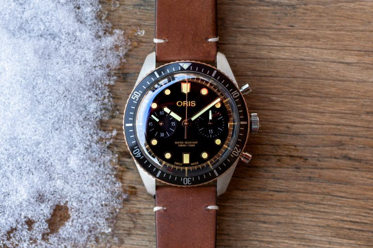 Introducing: The Oris Divers Sixty-Five Chronograph (Live Pics & Pricing)