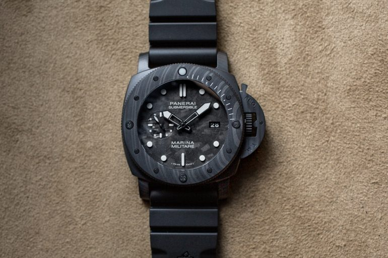 Introducing: The Panerai Submersible Marina Militare Carbotech 47mm (Live Pics & Pricing)