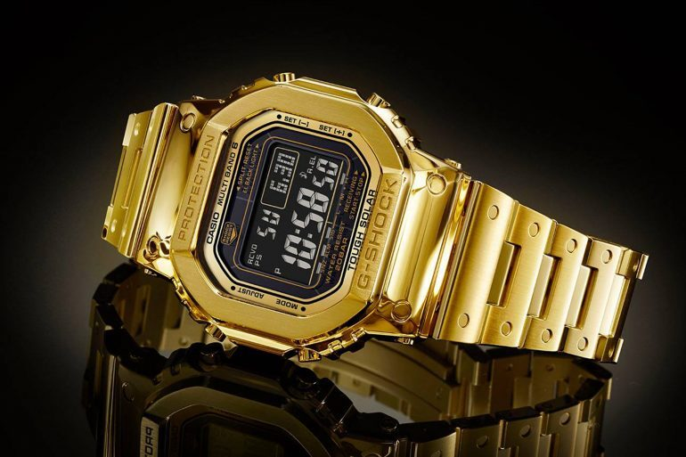 Just Because: The Solid 18 Karat Gold G-Shock 'Pure Gold' G-D5000-9JR