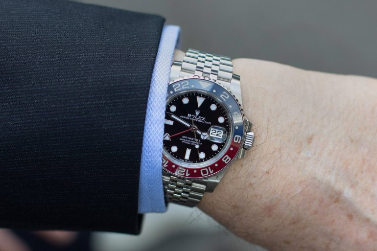 Watch Spotting: Philippe Dufour Wearing A Rolex 'Pepsi' GMT-Master II Ref. 126710 BLRO At Baselworld 2019