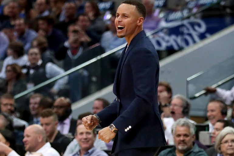 Watch Spotting: Stephen Curry Wearing A Cartier Santos Skeleton Courtside
