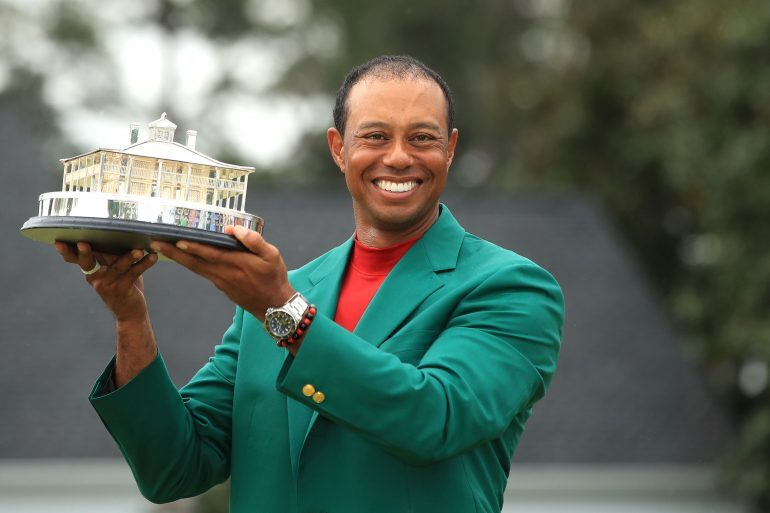 Watch Spotting: Tiger Woods Wears A Rolex Deepsea D-Blue After Winning His First Masters In 14 Years